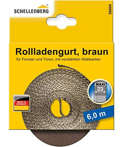 Schellenberg 36004 Rollladengurt 23 mm x 6,0 m - System MAXI, Rolladengurt, Gurtband, Rolladenband