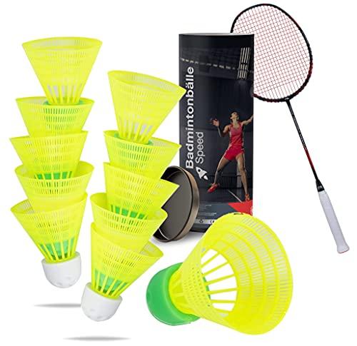 TK Gruppe Timo Klingler 5X Speedbadminton Federbälle schnell gelb Badmintonbälle für Training & Wettkampf Badminton für Outdoor & Indoor (5X)