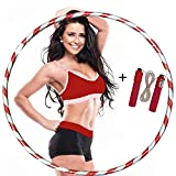 HANSON AND LANGFORD Weight Loss Hula Hoop GLITTER Hula Hoops For Adults Women Men Fitness Adult Hoola Hoop Exercise Dance Workout Equipment FREE SKIPPING ROPE (Pack of 1, XL)