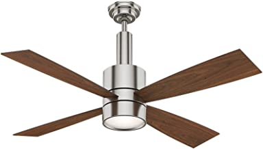 Casablanca Indoor Ceiling Fan with LED Light and wall control - Bullet 54 inch, Brushed Nickel, 59288