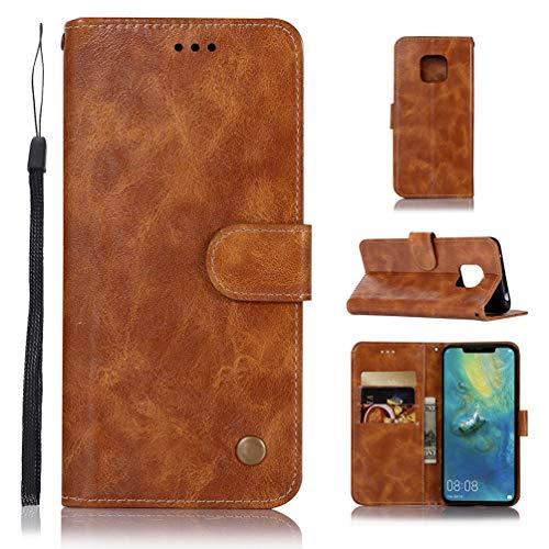 Vogu'SaNa Mate 20 Pro Hülle, Case für Huawei Mate 20 Pro Cover HandyHülle Leder Flipcase Schutzhülle Schutz Etui Brieftasche Flipcover Tasche mit Ständer und Magnetverschluss
