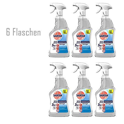 Sagrotan Flächen-Desinfektionsspray Reiniger Desinfektion antibakteriell mit Sprühkopf 6 x 500 ml SET