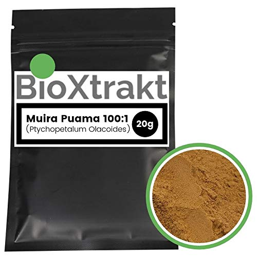 BioXtrakt® Muira Puama extracto 100:1 (madera vendada) afrodisíaca, hombres y mujeres (20g)