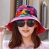 XINQING-MZ Delgado, la tapa se puede plegar la tapa doble cara visor femenino playa hat, escapadas románticas paño verde cap cap cap de sun, color/G