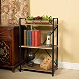 Three Shelf Bookcase Bookshelf 3 Tier Storage Rack Shelf for Office, Bathroom, Living Room(37' H)