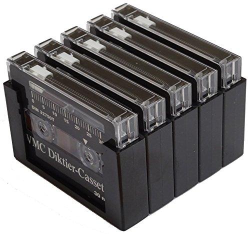 WMC Diktier-Cassette Steno 30 für Grundig Diktiergeräte 5er-Pack