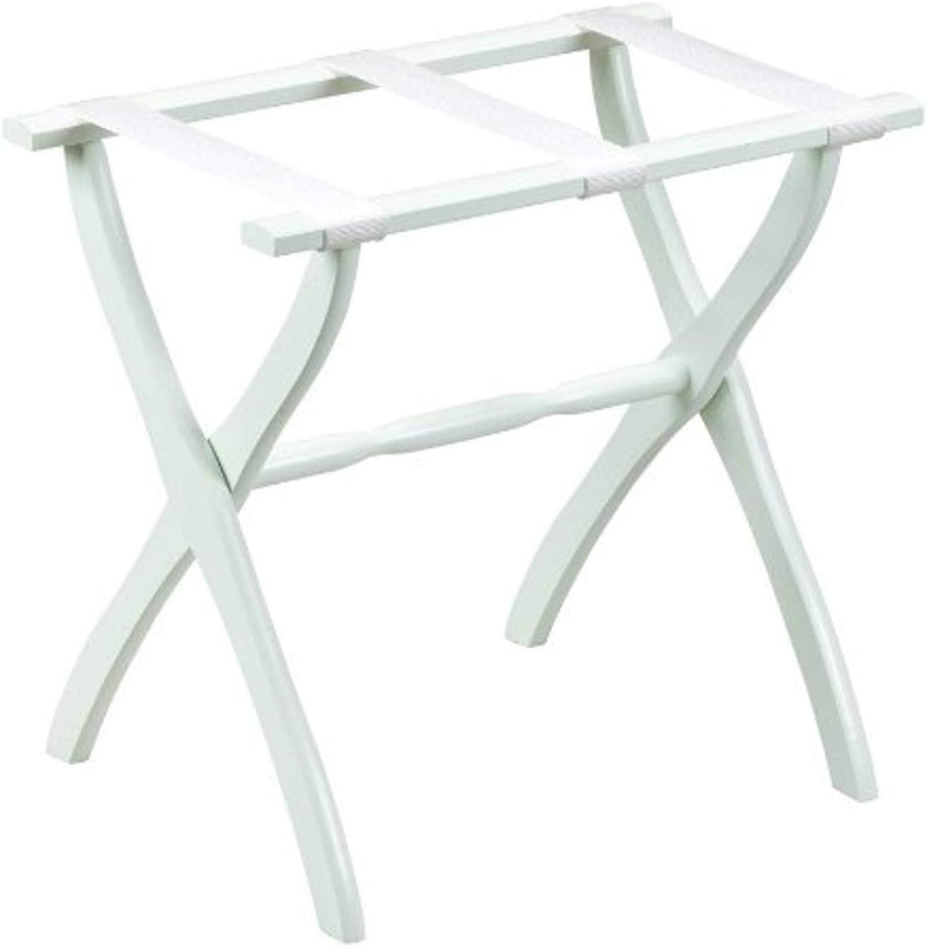 Gate House Oakland Mall Furniture Item White with Direct sale of manufacturer Contoured Leg Rack Luggage