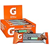 Gatorade Whey Protein Bars, Mint Chocolate Crunch, 2.8 oz bars (Pack of 12, 20g of protein per bar)