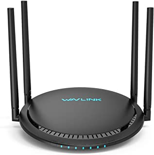 1200Mbps Smart WiFi Router, WAVLINK AC1200 Dual-Band Gigabit Ethernet Router WiFi Wireless 5Ghz + 2.4Ghz Gaming WiFi Router High Speed Wireless WiFi Box with Long Range for Gaming Xbox Playstation PC