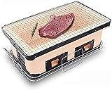 ZHIRCEKE Parrilla de Barbacoa BBQ Grill - Parrilla para Barbacoa Japonesa 3 Personas - 5 Personas Cerámica Cerámica sin Humo Carbón Interior Japonés BBQ Parrilla Comercial.