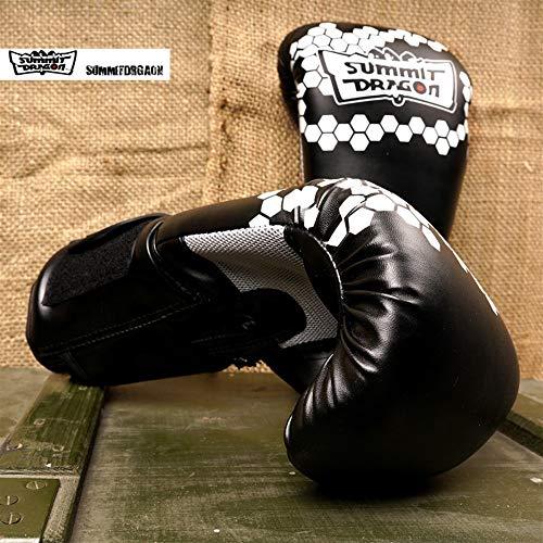 Ywlanlantrading Handschuh Chaos Element Boxhandschuhe Handgebundene Faust Core 2 Generation (Color : Black+White, Size : 12oz)