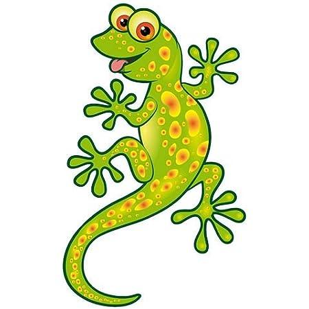 Fahnenmax Autoaufkleber Sticker Lizard Eidechse Gecko Grün Aufkleber Auto