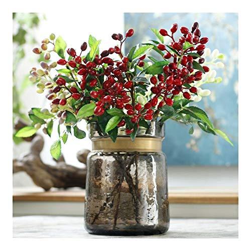 Roovtap Künstliche Olive Obst AST Spring Home Hochzeit DIY Dekoration Olive Berry Künstlich Pflanze Blume Qualitäts-Blume Dried Flower (Color : Red)