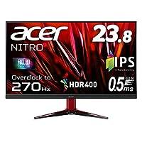 Acerゲーミングディスプレイ VG241YXbmiipx 23.8型ワイド IPS 非光沢 フルHD 0.5ms(GTG, Min.) 270Hz HDMI AMD FreeSync™ Premium対応 HDR 400