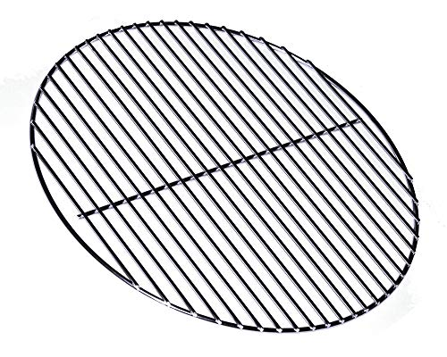 14 Inch, (Solid 304 Stainless Steel, Non-Plated), for Weber Smokey Joe. Upgrade Charcoal Grill Cooking Replacement Grate. - Heavy Gauge