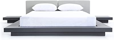 Limari Home Caddy Eastern King Bed, Wenge/Grey