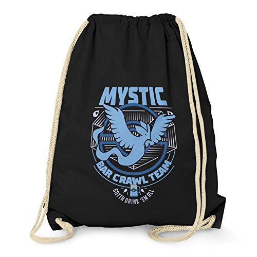 Nerdo Sac de gym unisexe Bar Crawl Team Mystic, Mixte, Sacs à cordon, VEND-109308, Noir , Taille unique