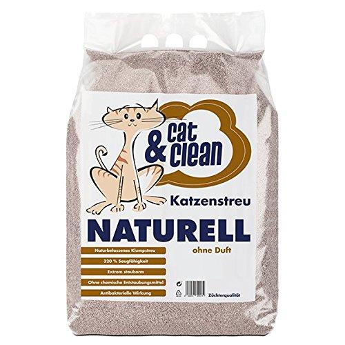 Cat & Clean Arena para gatos, muy absorbente, producto natural de bentonita, 20 kg