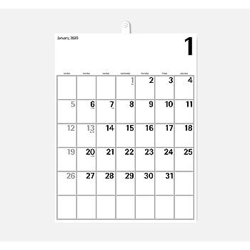 2021年度版 aru デザインカレンダー 壁掛け WHG-05