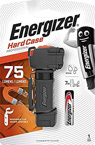 Energizer - Linterna LED Compacta Multiusos Hard Case Professional, 75 LM, Alcance 30 m, Super Resistente a Caidas y Agua, Negro