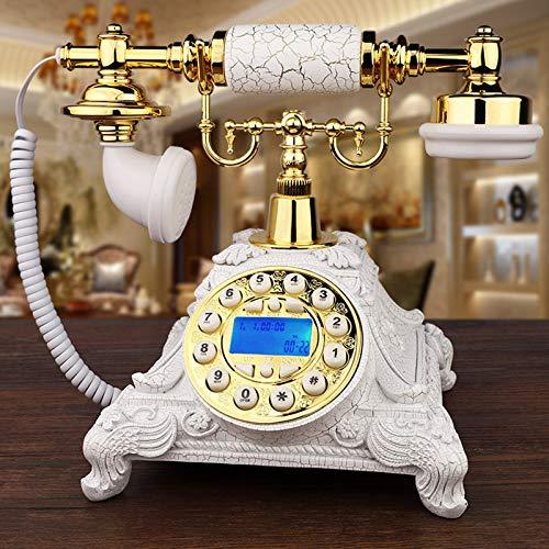 KQJH Clásico Teléfono De Oficina con Cable, Teléfono De Estilo Europeo Vintage, Teléfono Fijo De Escritorio con Identificador De Llamadas, para Sala De Estar, Dormitorio, Estudio, Hotel