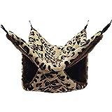 wuhanyimang Hamaca de jaula para mascotas, cama de rata, accesorios de jaula de conejillo de indias ropa de cama acogedora túnel de hurón cueva de animales(S,A)