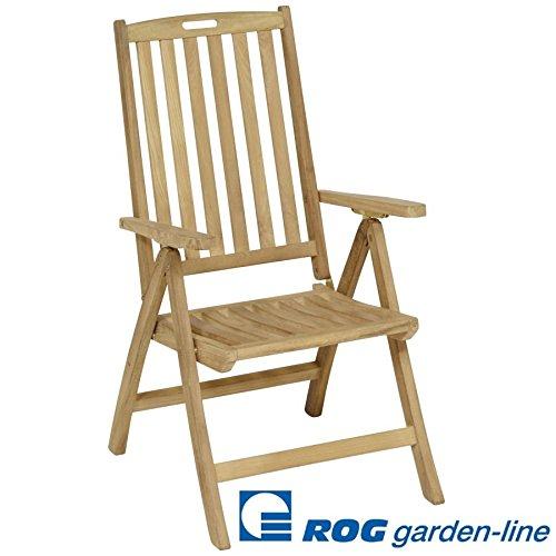 ROG garden-line TL8001 Teak HOLZSTUHL New Orleans MIT ARMLEHNEN