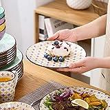 Vancasso Tafelservice Porzellan, Tulip Elegantes Geschirrset, 48 teilig Kombiservice Serie Mandala, mit Speiseteller, Dessertteller, Müslischalen und Kaffeebecher für 12 Personen - 8