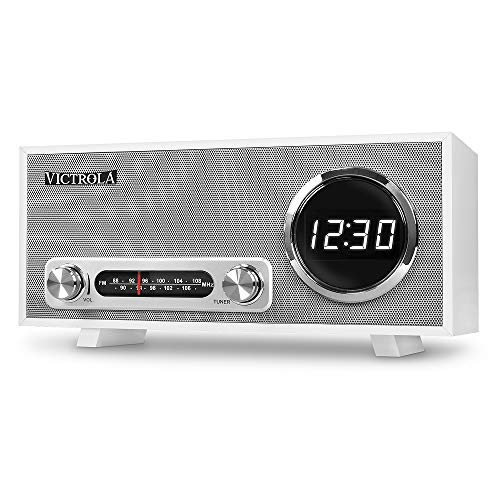 Victrola Broadway Bluetooth Orologio Digitale Stereo - Bianca