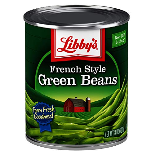 Libby's French Style Green Beans | 100% Green Beans | Classically Delicious, Mild & Subtly Sweet | Crisp-Tender Bite | No Preservatives | French Cut | Kosher | 8 ounce cans (Pack of 12)