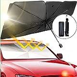 smatoy Sonnenschutz Auto Frontscheiben Faltbarer Sonnenblende, UV Schutz und Wärme Sonnenblendenschutz Reflektor Regenschirm für SUV/MVP/LKW, Auto Frontscheibe und Heckscheibe - 55 x 31 inches