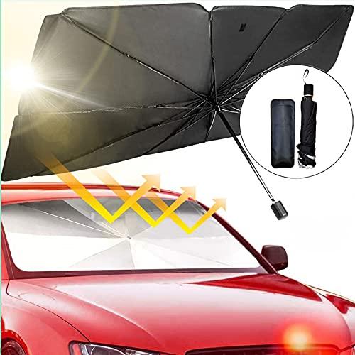 smatoy Sonnenschutz Auto Frontscheiben Faltbarer Sonnenblende, UV Schutz und Wärme...