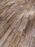 Parador Klick Vinyl Bodenbelag Classic 2030 Boxwood Vintage Braun Stabmix Gebürstete Struktur 1,825m², hochwertige Holzoptik mittel braun/grau 9,6mm, einfache Verlegung