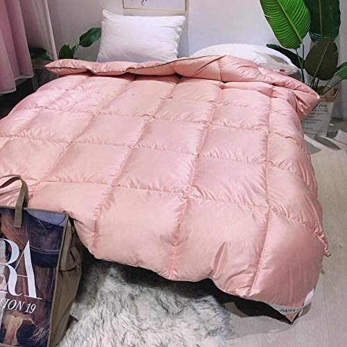 Hahaemall King Size Duvets Winter Warm Duvet Insert Classic Quilt Hypoallergenic-Anti allergen-Washable at Home-Classic-Duvet Quilt-pink_200x230-3000g