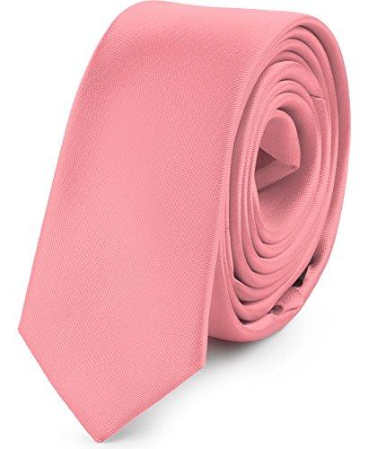 Ladeheid Herren Schmale Krawatte SP-5 (150cm x 5cm, Puderrosa)