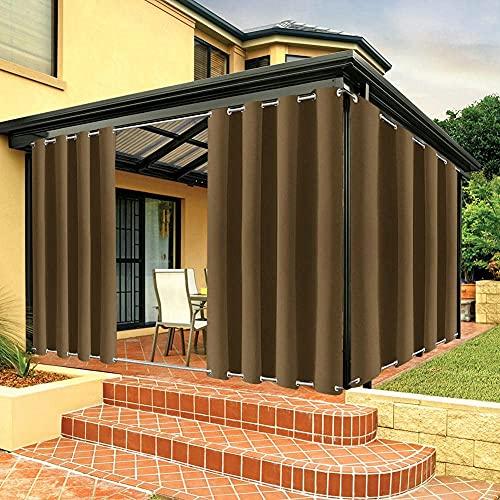 Tende Oscuranti Impermeabili Tenda da Sole per Esterno Tenda Gazebo Terrazzo Idrorepellente Termiche Isolanti Opache Tenda con Anelli per patio, pergolati, tendaggi veranda, tendaggi