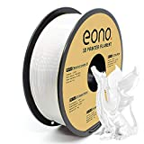 Amazon Brand - Eono Silk PLA Filamento para Impresora 3D, 1.75mm PLA Filamento Accuracy ± 0.03 mm, 1kg, Blanco.