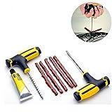 1set professionale di strumenti di riparazione per pneumatici per auto, moto, bicicletta, kit di riparazione pneumatici