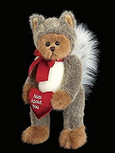 Valentine's Beabagueton Bear Nuts About You - Squirrel Robeed Bear by Beabagueton Bears