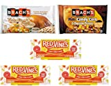 Halloween Candy Corn Favorites Variety Pack – Red Vines – Limited Edition Candy Corn Red Vines Twists, Limited Edition Brach's Turkey Dinner + Apple Pie and Coffee Candy Corn AND Brach's Mini Candy Corn & Chocolate Peanuts – Perfect Fall/Halloween treat for all Candy Corn lovers!