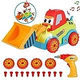 LUKAT Montage Spielzeug Auto Schrauben LKW Spielzeugauto ab 1 Jahre 2 Jährige 3 Jahren Werkzeug Spielzeug für Kinder -