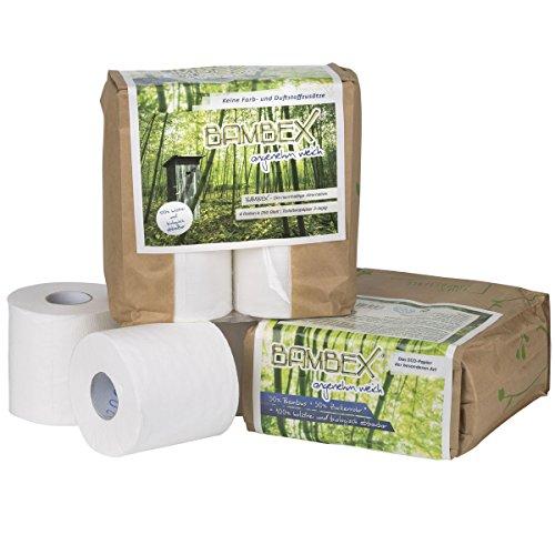 Siehe Beschreibung Toilettenpapier BAMBEX Premium, 4 Rollen, holzfrei und biologisch abbaubar - Camping Bambus Klo Papier WC selbstauflösend