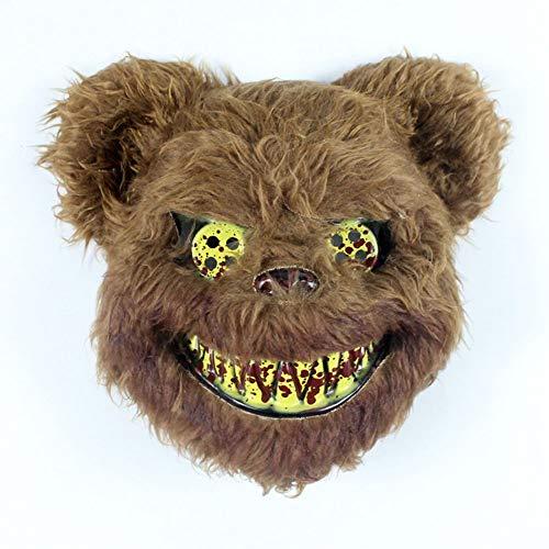 EXUVIATE Halloween Masker Volwassenen Enge Beer Kostuum Cosplay Party Enge Masker Decoratie Party Decoratie Props