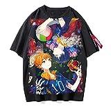 ZOSUO Unisexo Camiseta Haikyuu!! Karasuno Koukou Estampada Verano Corta Blusa T-Shirt Cuello Redondo Jersey Informal Suelto Verano Streetwear,O,S