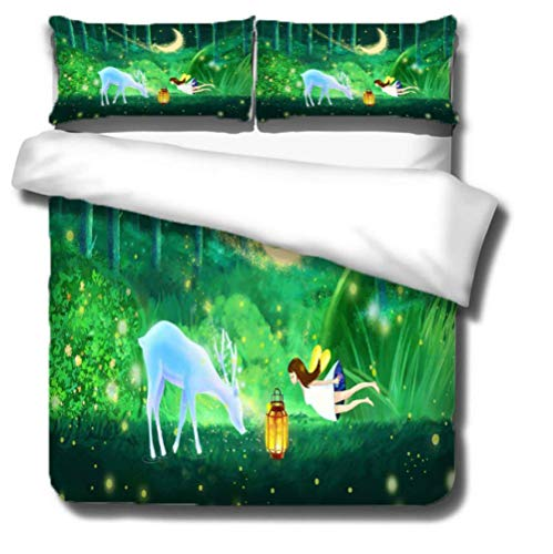 GSYHZL Pillowcases andDuvet CoverBedding Set ,3D animal super king-size bed bedding set, boy and girl bedroom printing single bed duvet cover and pillowcase-B_172*218cm(3pcs)