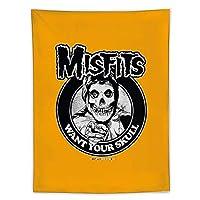 Misfits Skull2 タペストリー壁掛けリビングルーム寝室寮部屋家の装飾ポスター