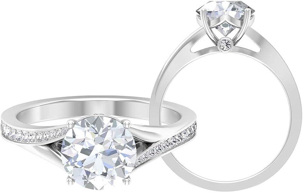 Split Shank Rings Oklahoma City Mall for mart Women Ring fo Engagement Solitaire