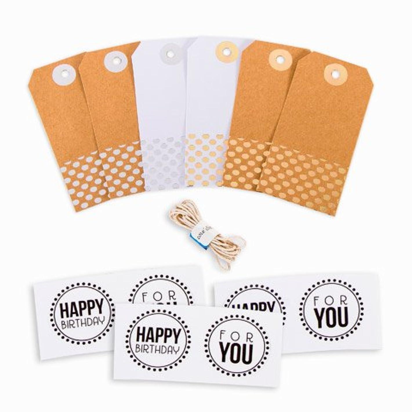 Darice Paper Gift Tags Kit, Metallic Gold & Silver Foil