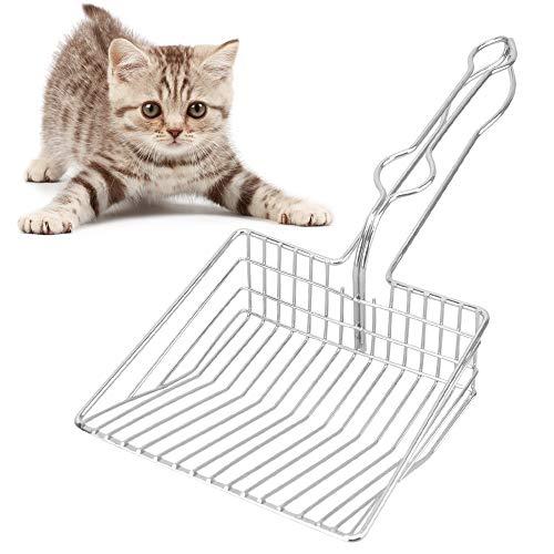 Katzenstreuschaufel Groß Metall, Streuschaufel Katzenstreu Schaufel Katzenklo Schaufel Kotschaufel Katzentoilette Schaufel Haltbare Haustier Metallschaufel Katzenschaufel Schaufel für Katzen Kätzchen