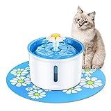 Cat Water Fountain Pet Supplies Automatischer elektronischer leiser Wasserspender for Haustiere for Katzen, Hunde, mehrere Haustiere mit Wasserdichten Matten Cat and Dog Water Purifier -